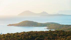 Sunrise at Porto Rotondo with on Mediterranean sea. Sardinia, Italy stock photo