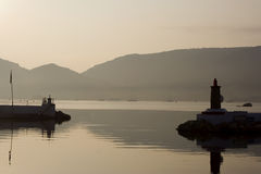 Sunrise in porto vecchio Stock Photography