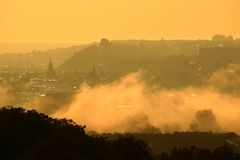 Sunrise in Prague Royalty Free Stock Images