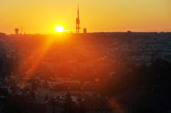 Sunrise in Prague Stock Photography