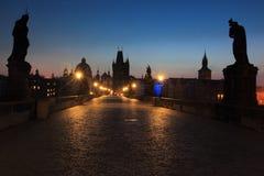 Sunrise in Prague Stock Images