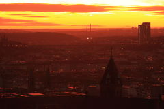 Sunrise in Prague Stock Photo