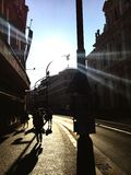 Sunrise in Prague Stock Photography