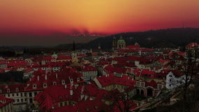 Sunrise in Prague. Old Town. Timelapse. stock footage