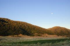 Sunrise on the prairie. Sunrise in the natural grasslands of the island Mocha, the biobio region, Chile Stock Photo