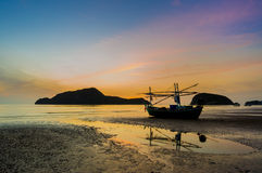 Sunrise at Pranburi beach Royalty Free Stock Image