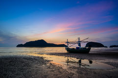 Sunrise at Pranburi. Thailand Asia Royalty Free Stock Images