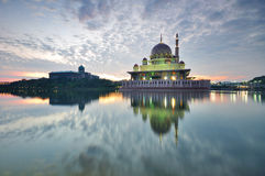 Sunrise at Putra Mosque in Putrajaya Malaysia Stock Photo