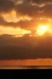 Sunrise on qinghai lake,tibet,china Royalty Free Stock Image