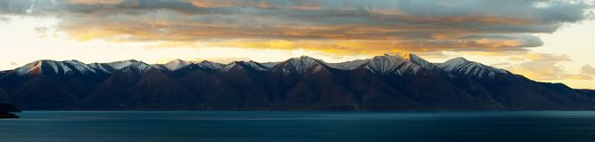 Sunrise in Qinghai-Tibet Plateau. Cloudy Stock Images