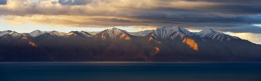 Sunrise in Qinghai-Tibet Plateau. Cloudy Stock Image