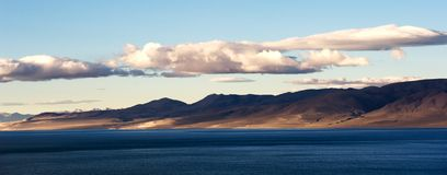 Sunrise in Qinghai-Tibet Plateau. Cloudy Royalty Free Stock Photo