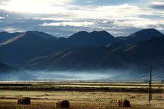 Sunrise in Qinghai-Tibet Plateau Stock Photography