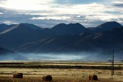 Sunrise in Qinghai-Tibet Plateau. Cloudy Stock Photography
