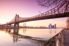 Sunrise at the Queen Bridge Stock Photos