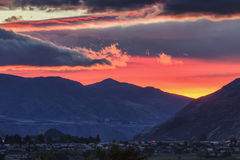 Sunrise in Queenstown Royalty Free Stock Image