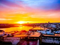 Sunrise in Rabat Morocco, horizontal stock images