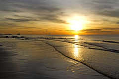 Sunrise rabiate golden seaside Stock Photography