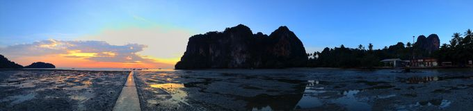 Sunrise at Railay Beach Royalty Free Stock Image