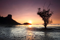 Sunrise Railay , Krabi Province Royalty Free Stock Image