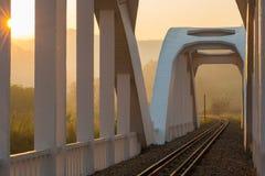 Sunrise railway bridge Royalty Free Stock Image