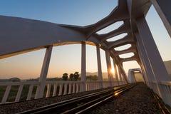 Sunrise railway bridge Royalty Free Stock Photos