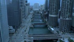 Sunrise rain chicago timelapse stock video footage