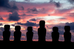 Sunrise in Rapa Nui Stock Photography