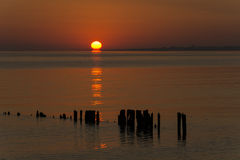 Sunrise Raritan Bay New Jersey Royalty Free Stock Photos