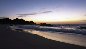 Sunrise at Ras Madrakah. Beach, Al Wusta region, Sultanate of Oman Royalty Free Stock Image