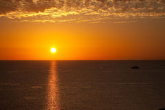 Sunrise in Red Sea Stock Photography