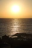 Sunrise of The red sea in Dahab of Egypt. Dahab is located in the southeast of Egypt's sinai peninsula, is a small population of the town, but here is the world' Stock Images