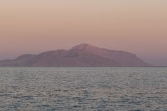 Sunrise on the red sea. In Egypt Royalty Free Stock Photos