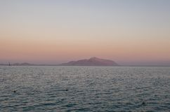 Sunrise on the red sea. In Egypt Royalty Free Stock Photography