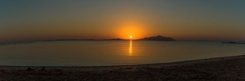 Sunrise on the red sea. In Sharm-el-Sheikh in Egypt Stock Image