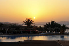 Sunrise from The Red sea and tropical landscape Royalty Free Stock Images