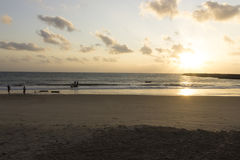 The sunrise in Redinha beach Stock Photo