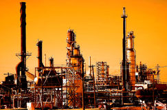 Sunrise Refinery Royalty Free Stock Images