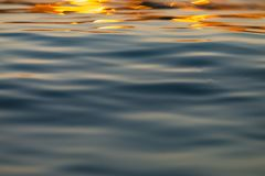 Calm Sea wave sunset view blue water ocean. Sunrise reflected in sea water, reflection in golden color stock photos