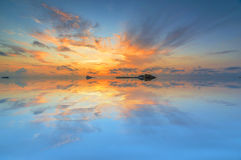 Sunrise reflection Stock Photography