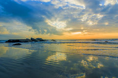 Sunrise reflection Stock Photography