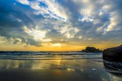 Sunrise reflection Stock Images
