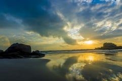 Sunrise reflection Royalty Free Stock Photography