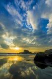 Sunrise reflection Royalty Free Stock Image