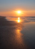 Sunrise Reflection on Ocean Isle Beach Royalty Free Stock Photo