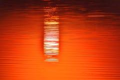 SUNRISE REFLECTION ON WATER PARADISE VIEW royalty free stock image