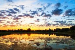 Sunrise reflections Stock Photography