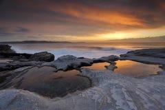 Sunrise reflections at Yena Royalty Free Stock Images