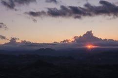 Sunrise. In the Republic of San Marino, Rimini. Emilia-Romagna. Italy Royalty Free Stock Image
