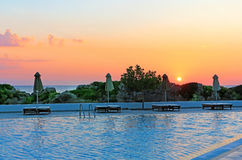 Sunrise on resort. Landscape moning sunrise resort beach Stock Image
